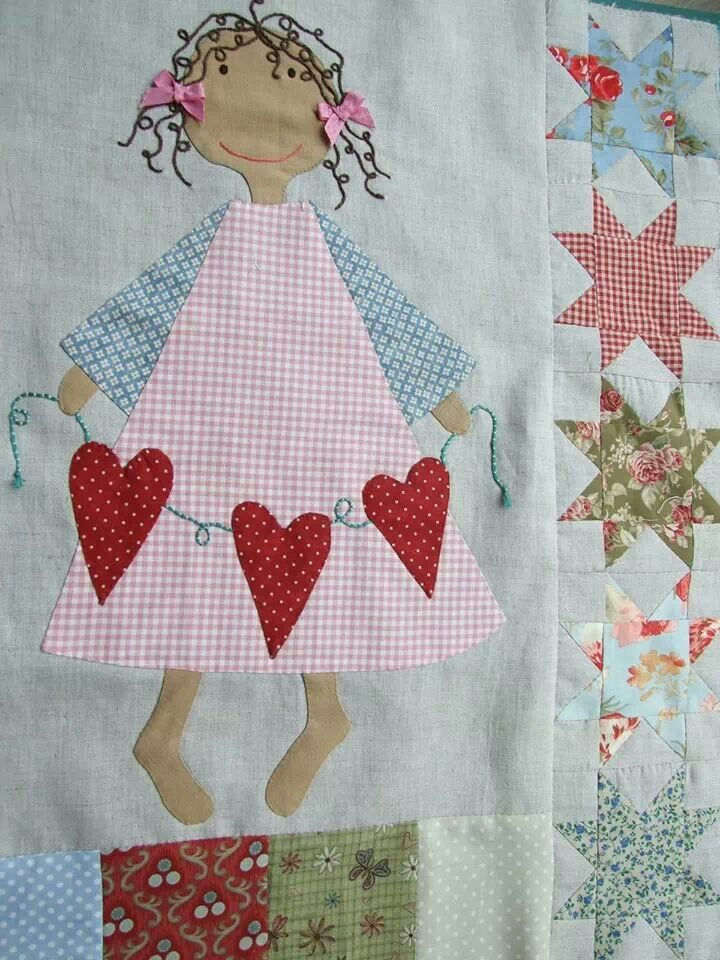 Crib quilt or little girl's quilt idea