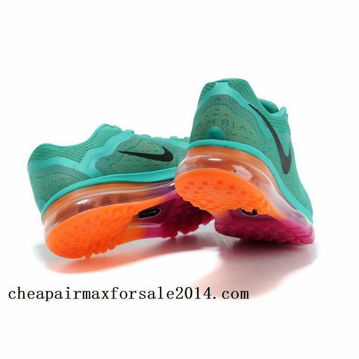 Cool Nike Air Max 2014 For Womens Green Rose Orange Running Shoes Cheap Online nike air trainer pacquiao
