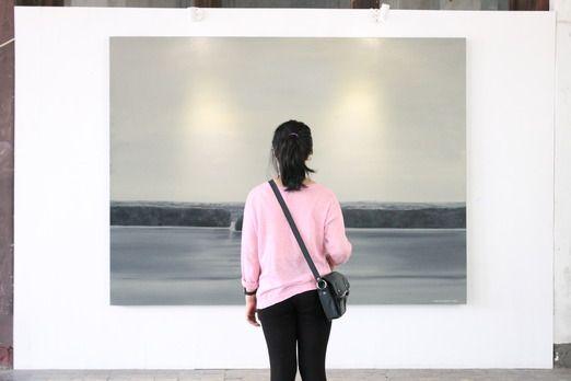 Appreciating art: Art exhibition curated by Rizky Zaelani was held at the Cipta Niaga building in Kota Tua. (Photo by Su...