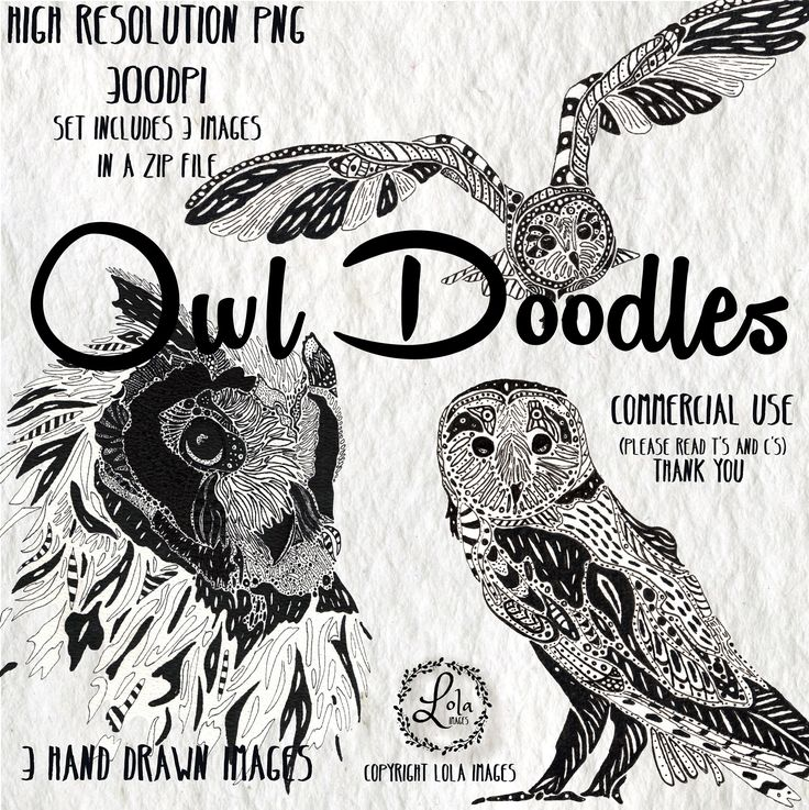 Excited to share the latest addition to my #etsy shop: Owl Doodles Digital Clipart | Abstract Owl Bird Pen and Ink | Hand Sketched with Ink | Personal&Commercial Use | PNG Images https://etsy.me/2GOp0ER #art #drawing #clipart #illustration #doodle #pen #animal #blackan