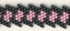 Diagonal Blocks Bracelet - Not the clearest tute, but simple peyote and a nice looking piece. #Seed #Bead #Tutorial