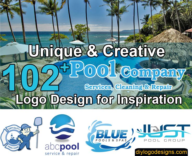 102 Best Logos For Pool Company Services Cleaning