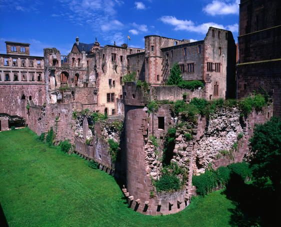 Heidelberg Castle (Heidelberg, Germany)... This is by far the best castle tour I've ever been on, I highly recommend this place... This is the view from the pit they used to throw the criminals in...