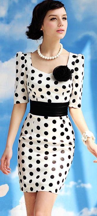 Fashion dress | Polka dot retro dress