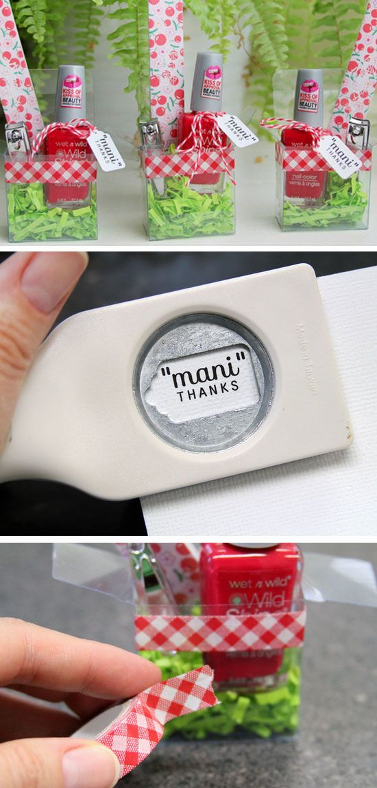 Mani Thanks | DIY Teacher Appreciation Gifts from Students