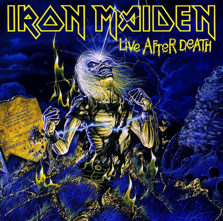 Iron Maiden Album Covers by Derek Riggs