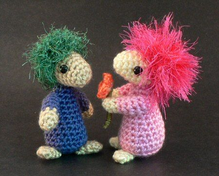 Mop Top Mascots by Planet June, free pattern