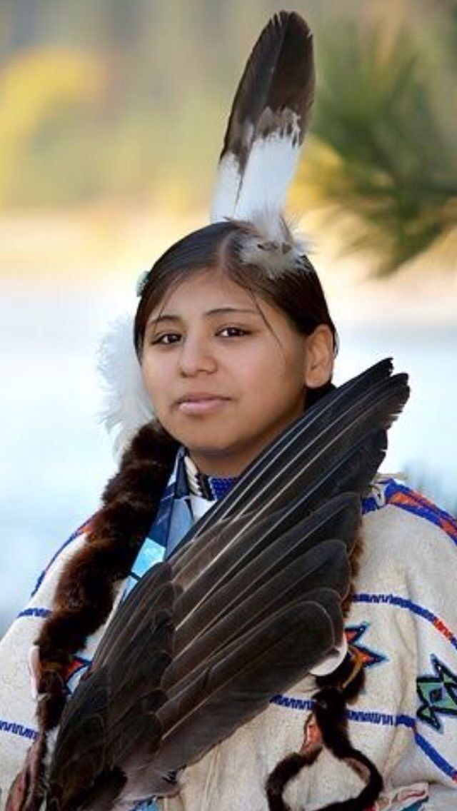 A young Nez Perce Indian Woman from Idaho