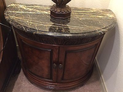 Henredon Alfresco Collection Night Stand With Marble Top