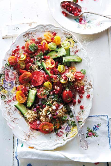 Quinoa and tomato salad with pomegranate