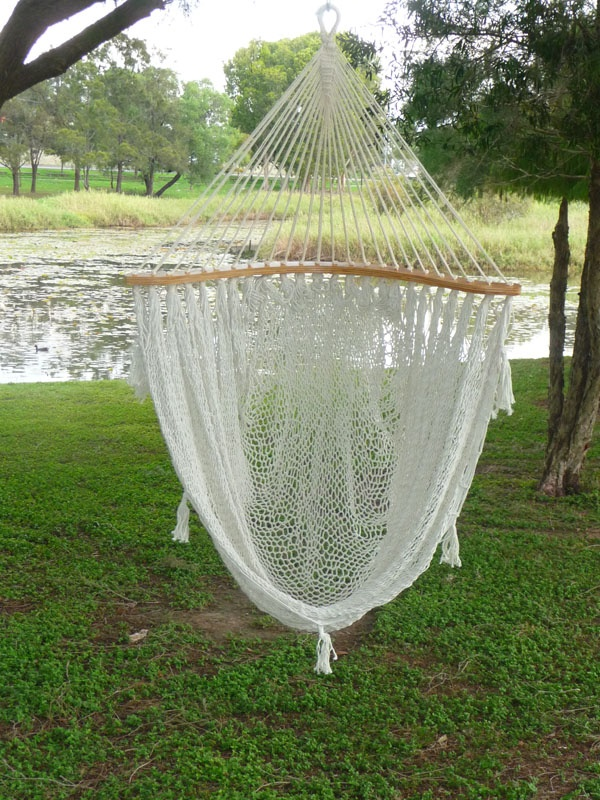 Moon Mexican Hammock Chair In Cream With Free Accessory