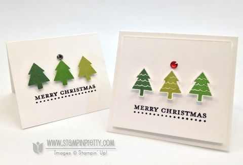 merry mini's - stampin' up!