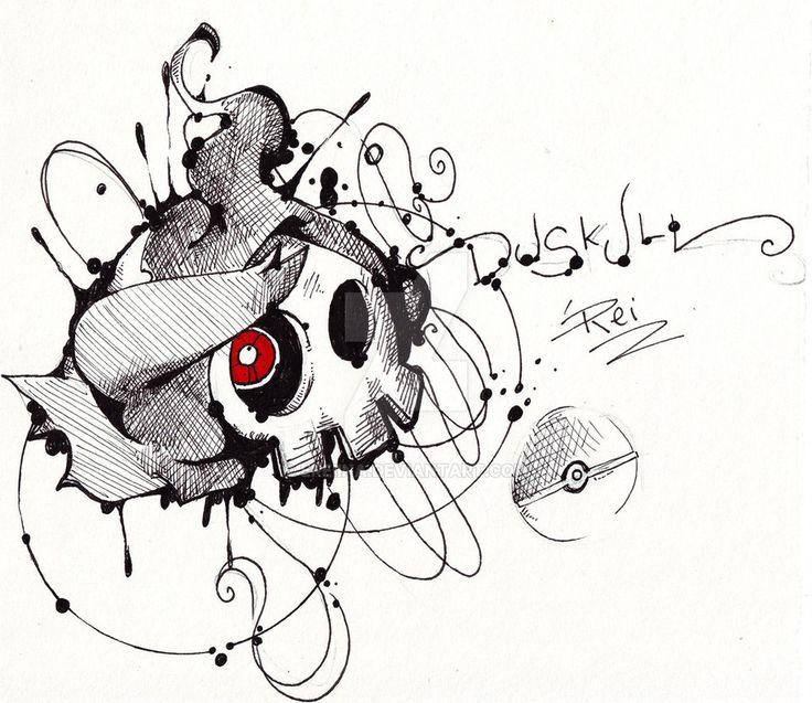 Duskull - Fst Gen Pokemon by eREIina.deviantart.com on @DeviantArt