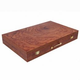 Handmade Rosewood Backgammon Board Classic Deluxe Wooden Game Set, Large