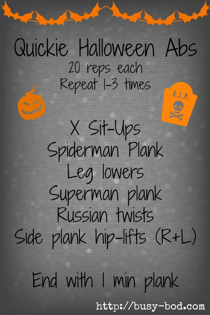 Halloween Abs Workout I BusyBod