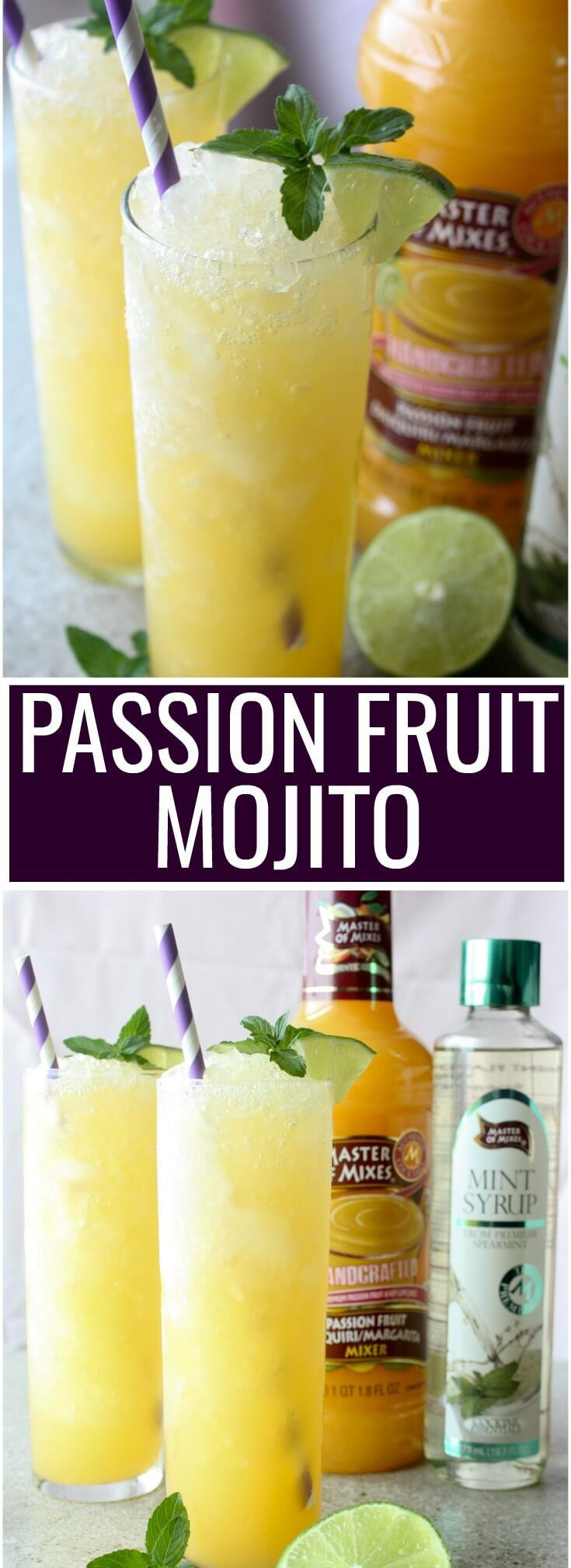 Frozen Passion Fruit Mojito #Ad