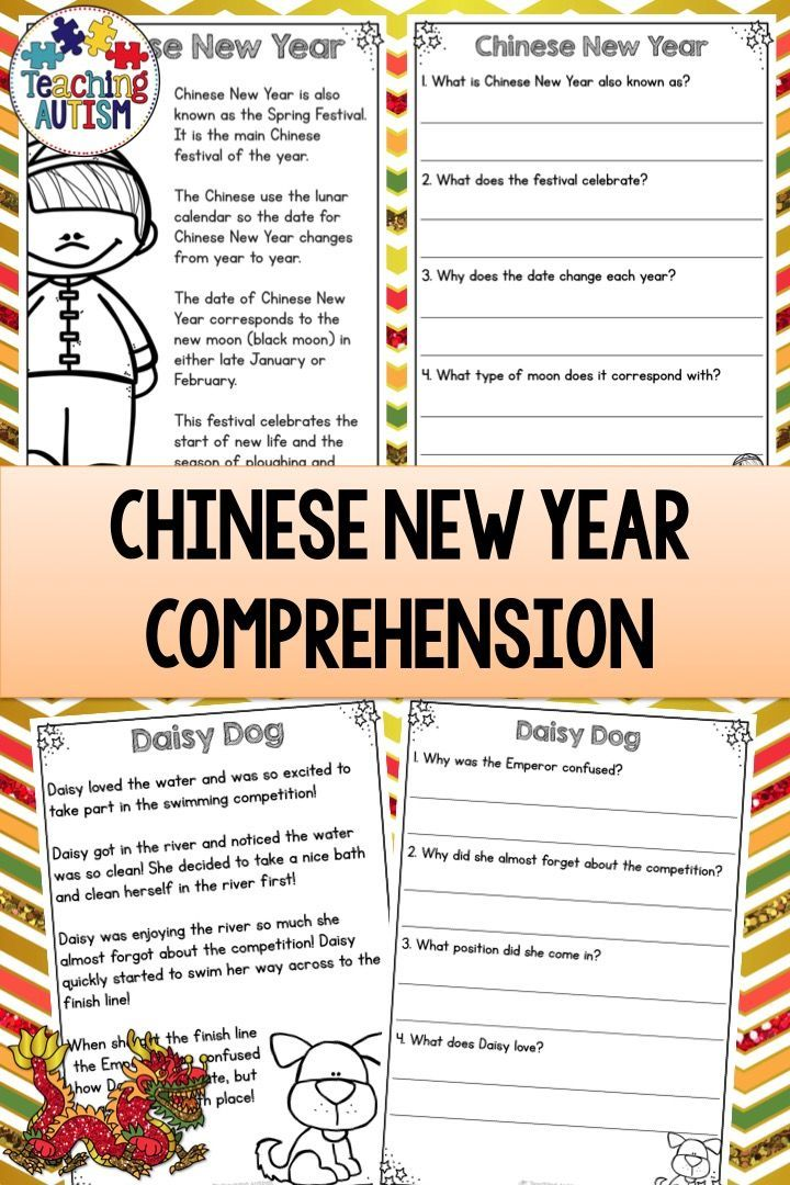 Reading Comprehension Passages and Questions Chinese New ...