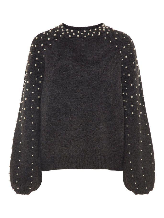 d2d238bdc Dark grey melange pullover with beads. #veromoda | Wardrobe i 2019 ...