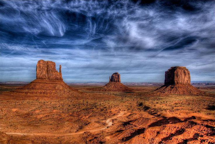 The Mittens in Monument Valley Arizona AZ Utah UT Colorado CO New Mexico NM Four Corners Colorado Plateau red rock sandstone slickrock Navajo Anasazi Kayenta