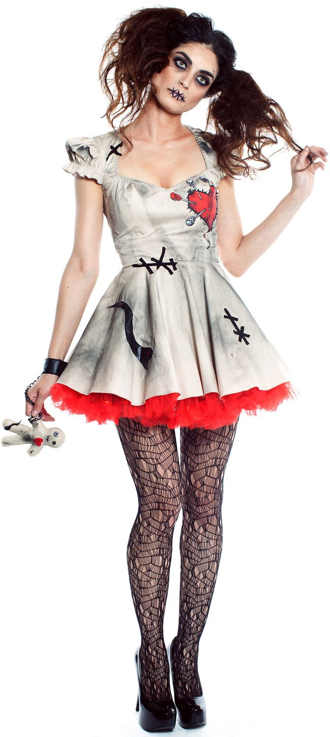 So want to try this for Halloween! #Sexy Scary Voodoo Doll Dalia Costume <3