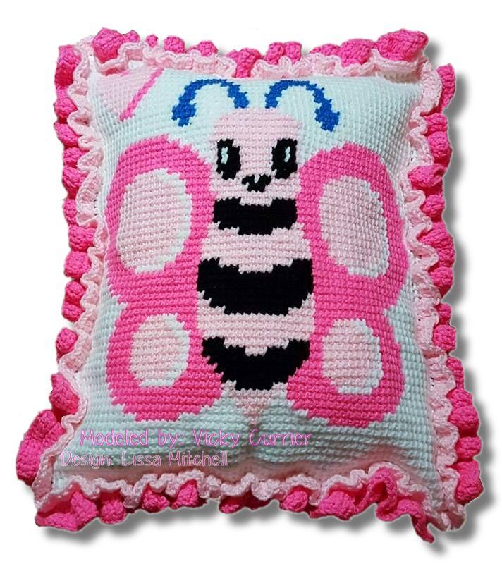 Free Butterfly Pillow Crochet Pattern