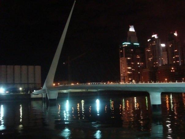 Puente de la Mujer, Puerto Madero-Buenos Aires #Calatrava #Architecture #Bridge #RiodelaPlata #Argentina #PuertoMadero