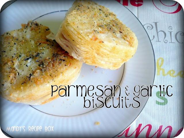Parmesan & Garlic Biscuits on Mandy's Recipe Box.