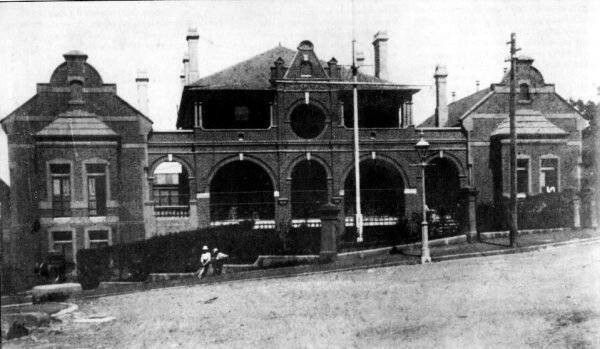 Balmain Hospital on Booth St,Balmain in the inner west of Sydney (year unknown).