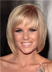 12 Inches Blonde Capless 100% Indian Remy Hair Short Wigs