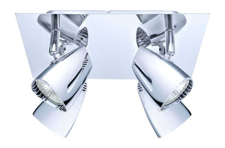 "Eglo 200827A Corbera 4 Light 9.5"" Wide Track Light with Adjustable Heads Chrome Indoor Lighting Track Lighting Kits"