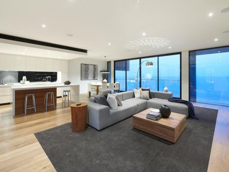 Smoked American Oak by Royal Oak Floors, seen here in a beach front property by Lowe Constructions - lowecon.com.au | royaloakfloors.com.au