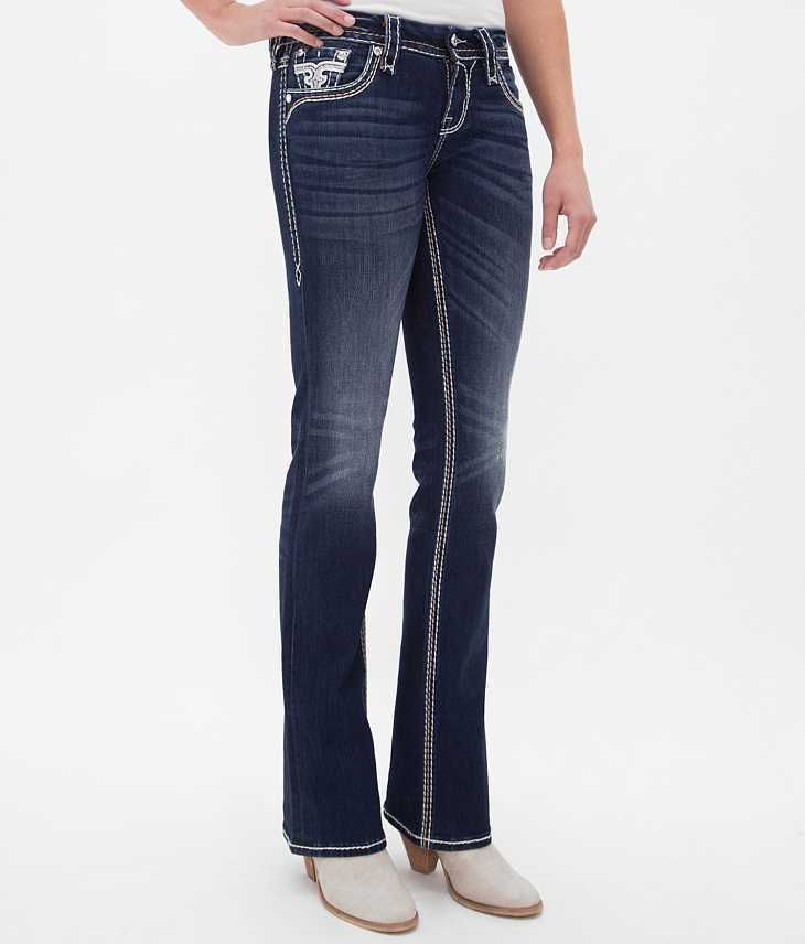 Rock Revival Nancy Easy Boot Cut Stretch Jeans Size 26 NWOT Buckle $159 26x30  #RockRevival #BootCutCurvyFit