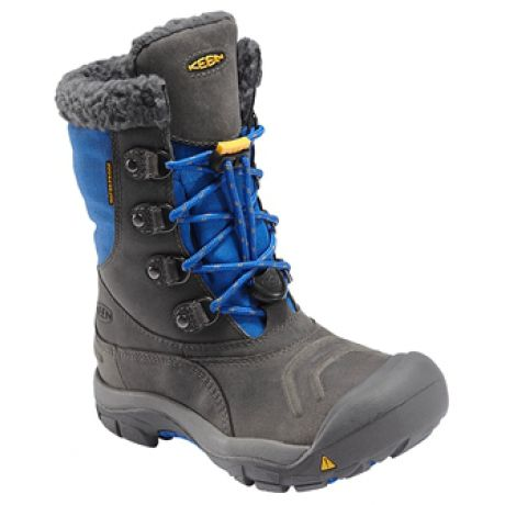 From rainy days to stormy weekends, count on the warmth and comfort of the Keen Basin Waterproof boot. Insulated with 200g of KEEN.Warm and lined with a waterproof breathable membrane for complete weatherproofing. These fuzzy-cuffed boots keep heat in and cold out, while a bungee lace system makes getting them on and off a snap.