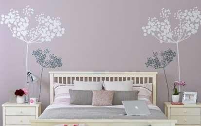 idee per arredare le pareti vernice schizzata : ... idee per colori e decorazioni per le pareti della camera da letto