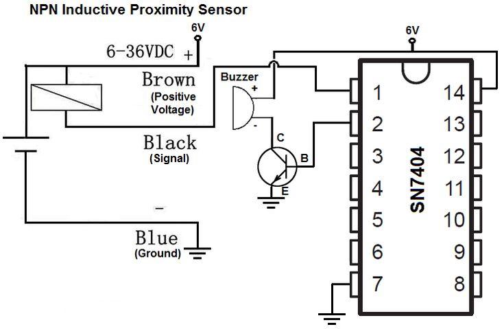 NPN inductive proximity sensor circuit (With images