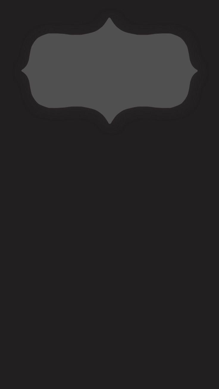 iPhone 6 Plus lock screen wallpaper. Minimal dark gray design with clock border.