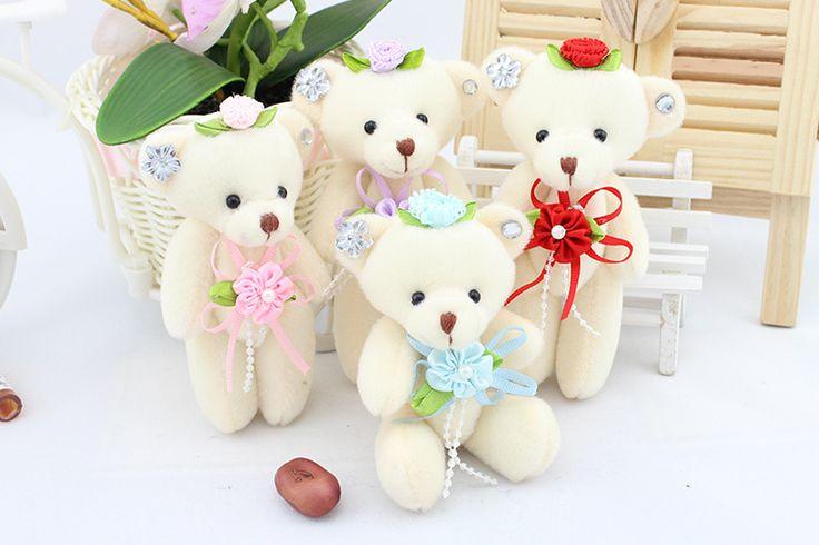 beautiful teddy bear with flowers #96661, Beautiful