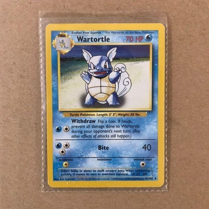 Base Set Wartortle Pokémon Card 42/102 NEAR