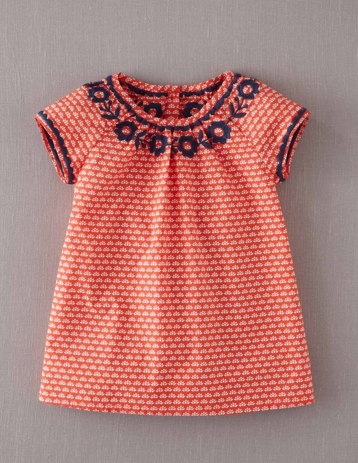 Mini Boden Girl's Brand New Embroidered Gypsy Top Coral Pink Floral 100 Cotton | eBay