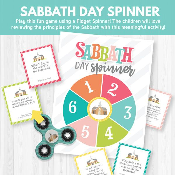 Sabbath Day Spinner Game - AWESOME Primary game for Sharing Time or FHE! (I Should Do Things on the Sabbath that will Help Me Stay Close to Heavenly Father- August 2017)