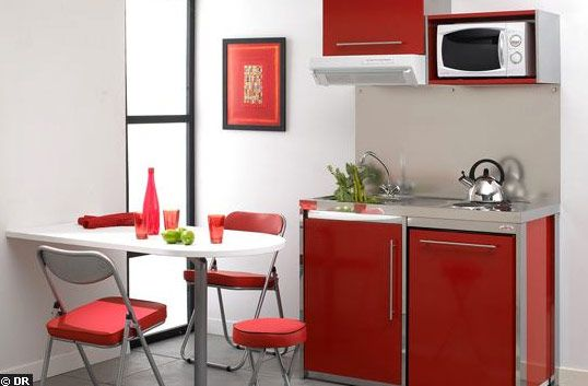 55 best small and narrow kitchen space images on pinterest for Narrow studio apartment ideas