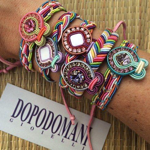 Which of these bracelets matches your outfit? We know you want them all!!  ¿Cuál de estas coloridas pulseritas combina mejor con tu outfit? ¡Estamos bastante seguras que todas te quedarán geniales!   #Dopodomani #Accesorios #Moda #Fashion #Soutache
