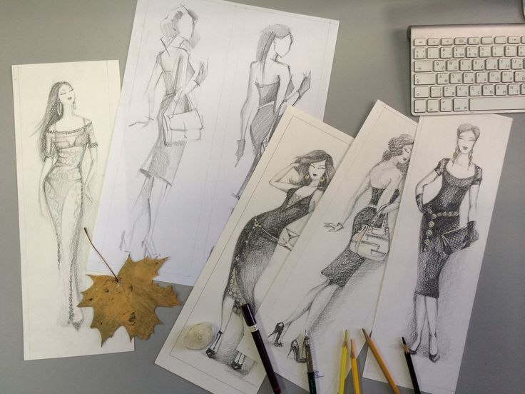 Fashion illustrations for shopping-mall