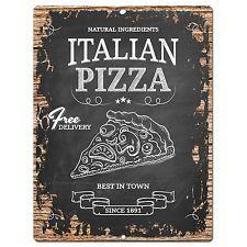 PP0780 Vintage Italian Pizza Chic Plate Sign Home Shop Restaurant Cafe Decor