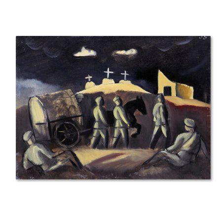 Trademark Fine Art 'White Crosses' Canvas Art by Joseph Grosvalds, Purple