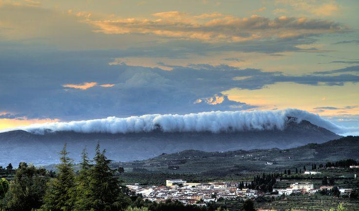 tsunami bearing down