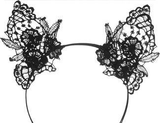 Mimi Holliday by Damaris Lace Cat Ear Headband