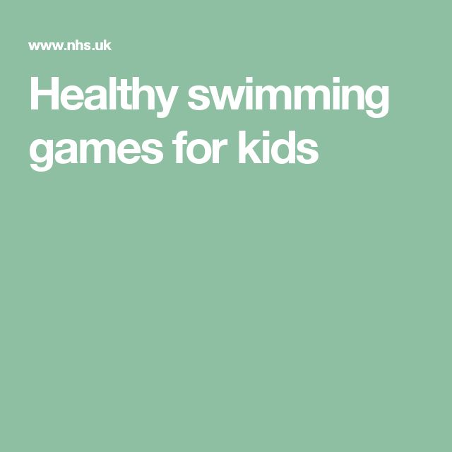Healthy swimming games for kids