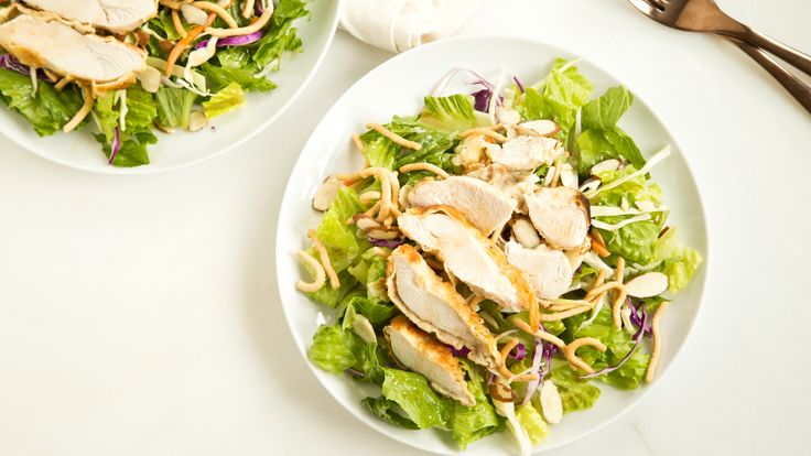 This easy recipe, inspired by Applebee's Oriental Chicken Salad, can be made up to three days ahead of serving, so it's perfect for lunch.