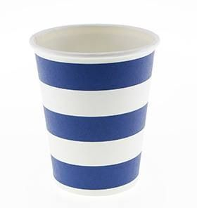 24 Sambellina Candy Stripe Blue Paper Cups - Included in the standard $115 and deluxe $175 packs www.strawberry-fizz.com.au